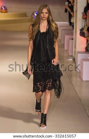 New York, NY, USA - September 13, 2015: Elie Tahari Spring 2016 at New York Fashion Week - stock photo