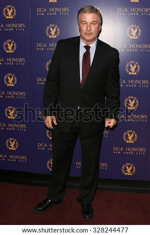 NEW YORK-OCT 15: Actor Alec Baldwin attends the DGA Honors Gala 2015 at the DGA Theater on October 15, 2015 in New York City. - stock photo