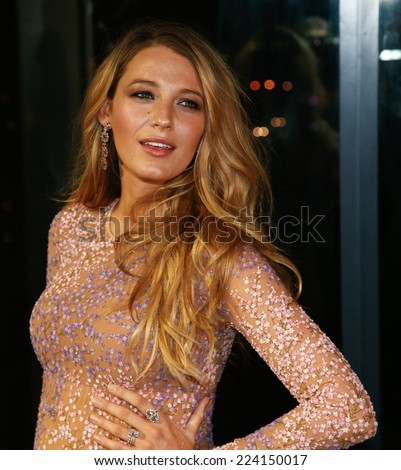 NEW YORK-OCT 16: Actress Blake Lively attends God's Love We Deliver, Golden Heart Awards on October 16, 2014 in New York City.  - stock photo