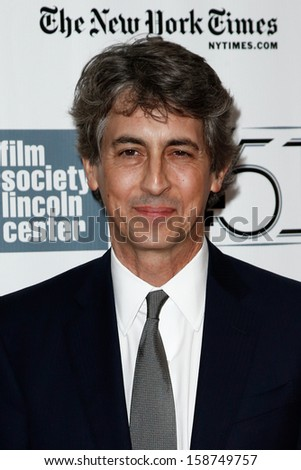 "NEW YORK- OCT 8: Director Alexander Payne attends the ""Nebraska"" premiere at the 51st annual New York Film Festival at Alice Tully Hall at Lincoln Center on October 8, 2013 in New York City.  - stock photo"