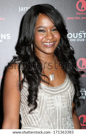"NEW YORK - OCTOBER 22, 2012: Bobbi Kristina Brown attends the premiere of ""The Houstons: On Our Own"" at the Tribeca Grand on October 22, 2012 in New York City. - stock photo"