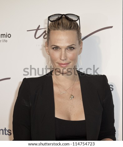 NEW YORK - OCTOBER 05: Molly SIms attends launch of The Tracy Anderson Method Pregnancy Project at Le Bain At The Standard Hotel on October 05, 2012 in New York City. - stock photo