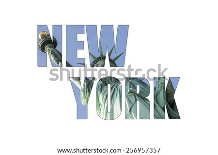 New York photo collage. - stock photo