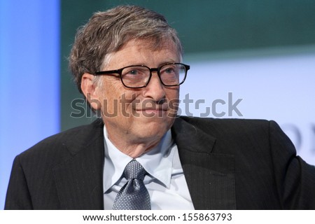 NEW YORK - SEPTEMBER 24: Bill Gates attends the Clinton Global Initiative Annual Meeting at The Shertaon New York Hotel on September 24, 2013 in New York City. - stock photo