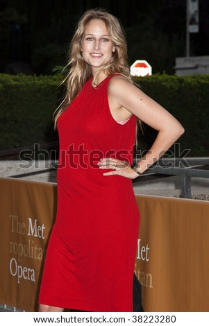 NEW YORK - SEPTEMBER 21: Leelee Sobieski attends the Metropolitan Opera 2009-10 season opening night on September 21, 2009 in New York City. - stock photo