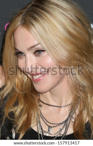 """NEW YORK - SEPTEMBER 22: Madonna attends the launch of the """"Material Girl"""" collection at Macy's on September 22, 2010 in New York City. - stock photo"""