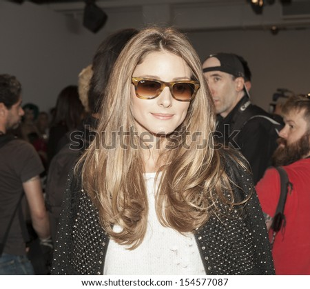 NEW YORK - SEPTEMBER 07: Olivia Palermo attends runway during Spring/Summer 2014 Fashion week for Rebecca taylor collection at Center 548 in Chelsea on September 07, 2013 in New York City - stock photo