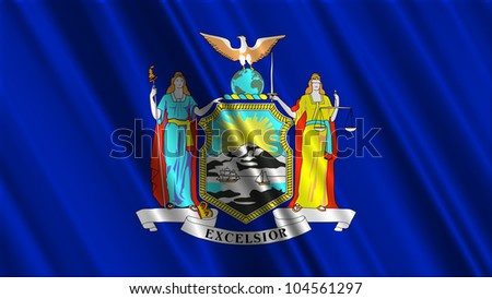 New York State Flag - stock photo