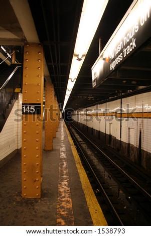 New York Subway Station - 5 - stock photo
