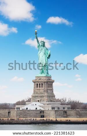 New York, USA - American symbol, Statue of Liberty. - stock photo