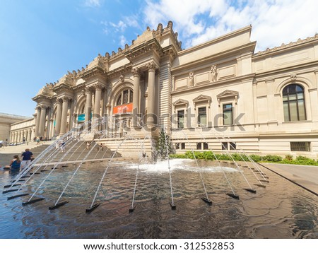 NEW YORK,USA - AUGUST 14,2015 : The Metropolitan Museum of Art in Manhattan - stock photo