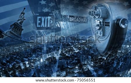 New York, USA Collage - stock photo