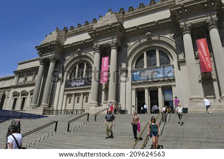 NEW YORK, USA �¢?? June. 2. 2014: Metropolitan Museum of Art, New York City, USA. The Met is a NYC landmark and is the largest art museum in the United States. - stock photo