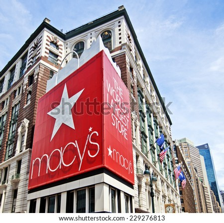 New York, USA - JUNE 28th, 2014: The world famous department store Macy's in New York City. - stock photo
