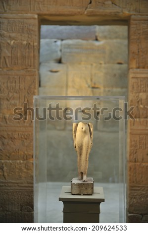 NEW YORK, USA -?? May. 30. 2014: Templa of Dendur, Egyptian temple replica in Metropolitan Museum of Art, New York City, USA.  - stock photo