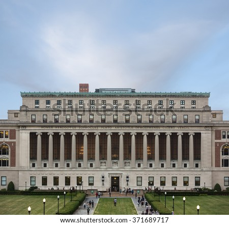 NEW YORK, USA - Sep 26, 2015: New York City's Columbia University, an Ivy League school. - stock photo