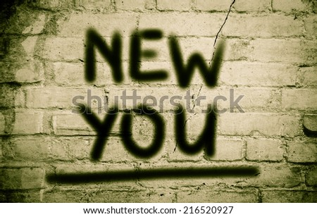 New You Concept - stock photo