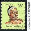 NEW ZEALAND - CIRCA 1980: A stamp printed by New Zealand, shows Maori Leader Te Heu Heu Tukino IV, circa 1980 - stock photo