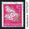 NEW ZEALAND - CIRCA 1960: stamp printed by New Zealand, shows Manuka Flower, circa 1960 - stock photo