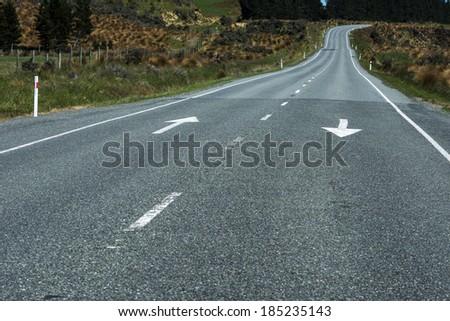 New Zealand expressway - stock photo