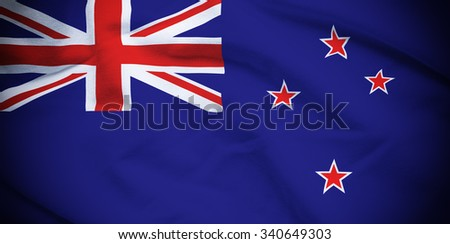 New Zealand Flag - stock photo