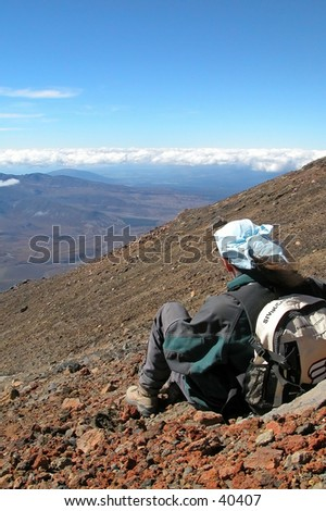 New Zealand mountain climber - stock photo
