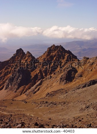 New Zealand rough mountain - stock photo