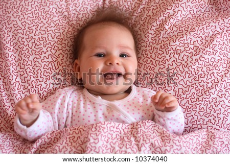 newborn and smile - stock photo