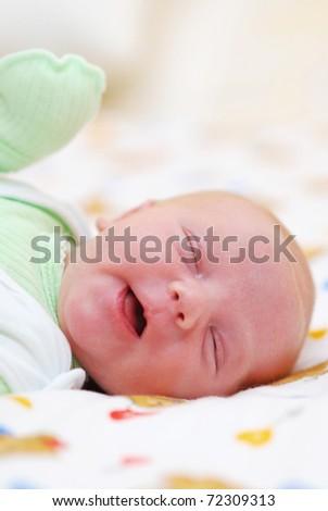 Newborn baby portrait - stock photo