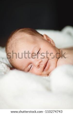 Newborn baby resting - stock photo