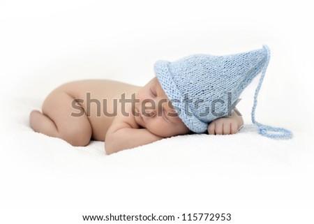 newborn to cap gnome - stock photo