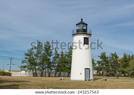 Newburyport Lighthouse in Massachusetts - stock photo