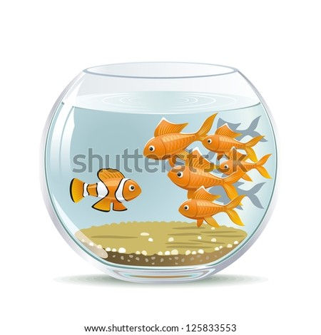 Newcomer. Illustration freshman in the existing collective. - stock photo