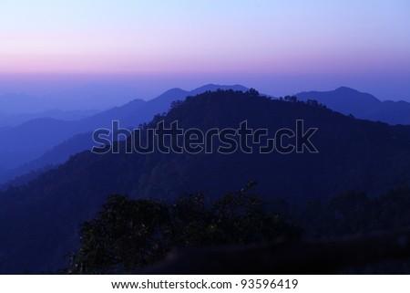 Newfound Gap, Smoky Mountains - stock photo
