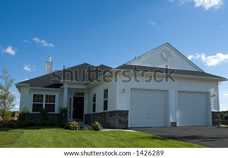 newly build model home - stock photo