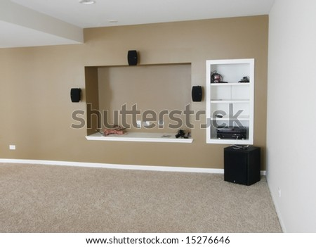 Newly  constructed room - stock photo