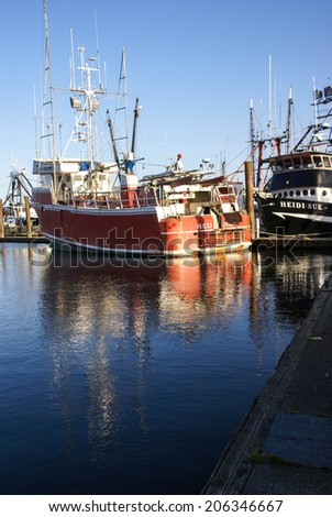 Troller stock photos images pictures shutterstock for Newport oregon fishing