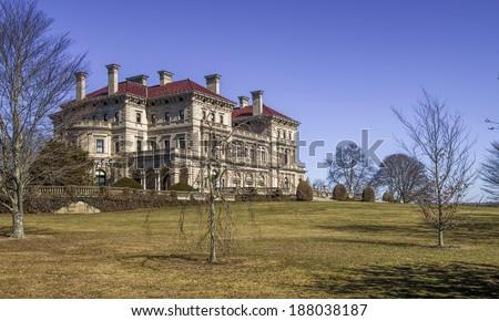 Newport, RI  Mansions, HDR - stock photo