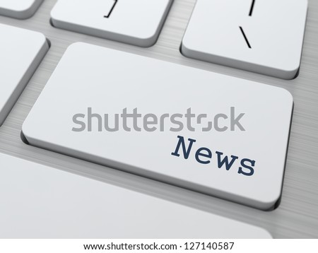 News Concept. Button on Modern Computer Keyboard with Word Partners on It. - stock photo