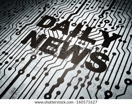 News concept: circuit board with  word Daily News, 3d render - stock photo