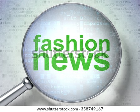 News concept: Fashion News with optical glass - stock photo