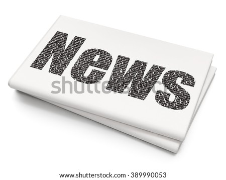 News concept: News on Blank Newspaper background - stock photo