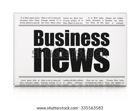 News concept: newspaper headline Business News on White background, 3d render - stock photo