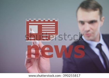 News concept word illustration headline background - stock photo
