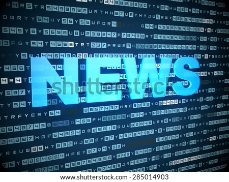 News concept: words News on digital background - stock photo