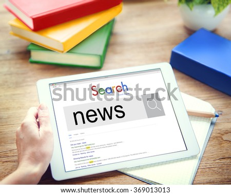News Information Announcement Broadcast Media Concept - stock photo