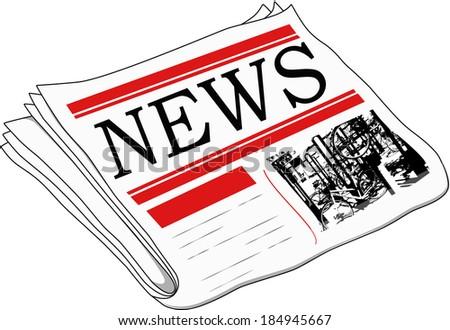 News paper - stock photo