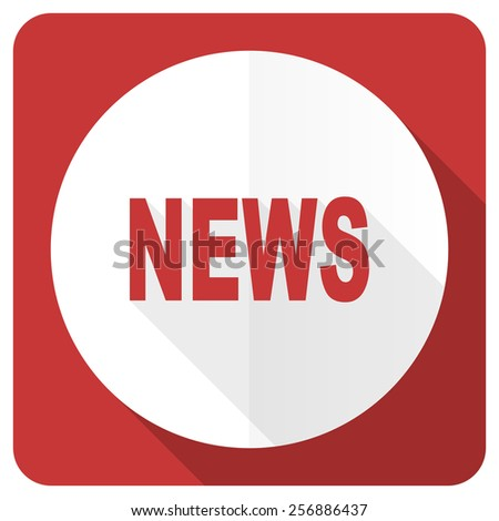 news red flat icon   - stock photo