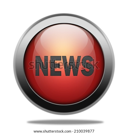 News red glossy web button - stock photo