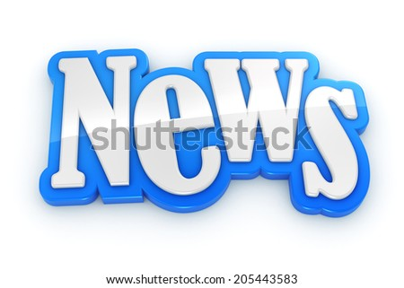 NEWS sign text word on white background - stock photo